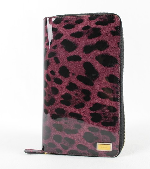 Dolce&Gabbana Dolce&Gabbana Purple and Black Leopard Print Wallet Image 1