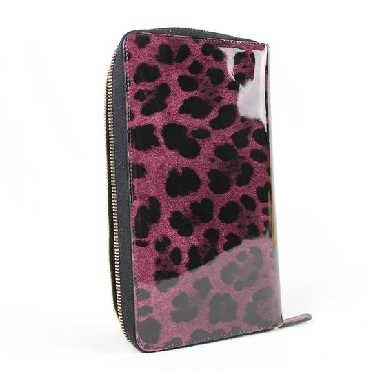 Dolce&Gabbana Dolce&Gabbana Purple and Black Leopard Print Wallet Image 4