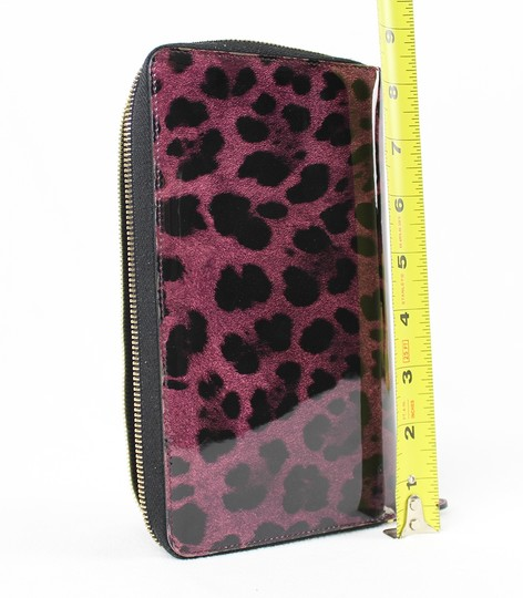 Dolce&Gabbana Dolce&Gabbana Purple and Black Leopard Print Wallet Image 5