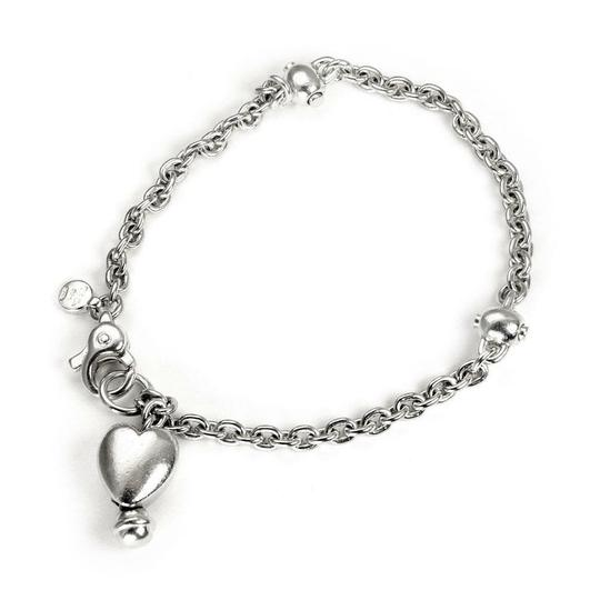 Tiffany & Co. Vintage Sterling Silver Heart Charm Chain Bracelet Image 0