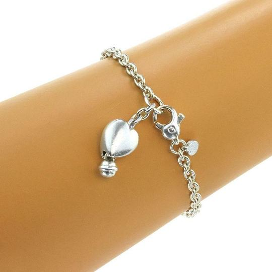 Tiffany & Co. Vintage Sterling Silver Heart Charm Chain Bracelet Image 1