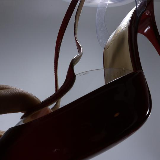 Christian Louboutin Pvc Clear Cross Strap Red Pumps Image 3