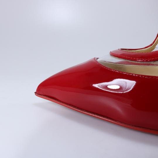 Christian Louboutin Pvc Clear Cross Strap Red Pumps Image 4