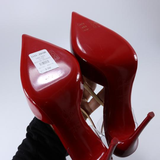 Christian Louboutin Pvc Clear Cross Strap Red Pumps Image 5