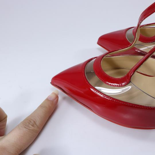 Christian Louboutin Pvc Clear Cross Strap Red Pumps Image 6
