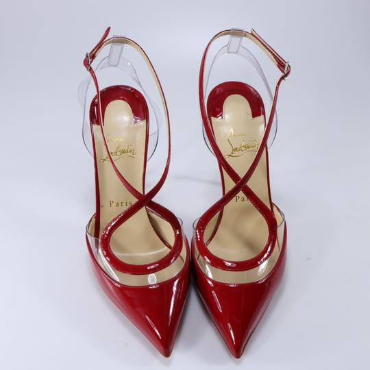 Christian Louboutin Pvc Clear Cross Strap Red Pumps Image 7