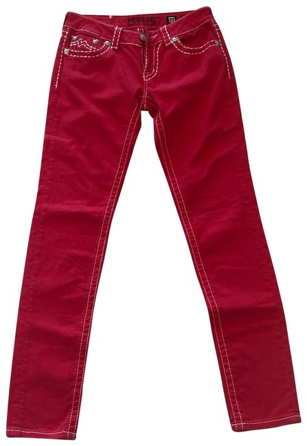 Preload https://img-static.tradesy.com/item/24727818/miss-me-red-and-white-like-new-stitched-skinny-jeans-size-4-s-27-0-1-650-650.jpg