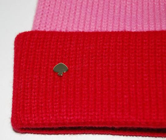 Kate Spade Striped Colorblock Beanie Pom Hat One Size Image 1