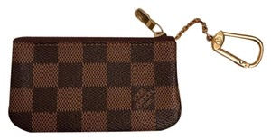 Louis Vuitton Damier Ebene Key Cles Chain Case Pouch Wallet