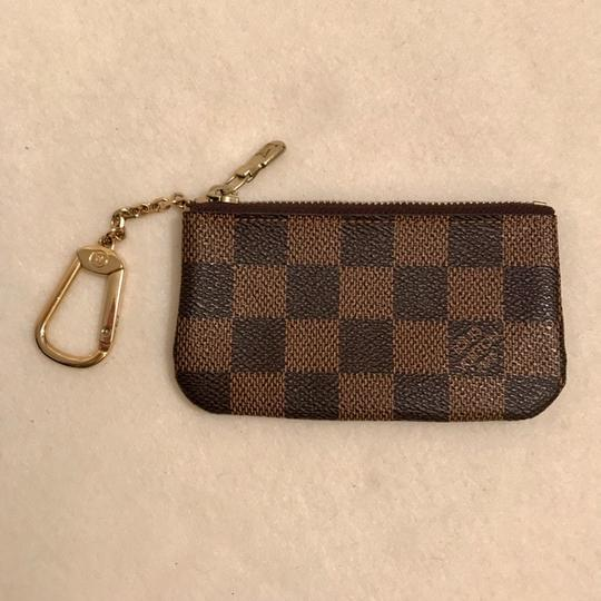 Louis Vuitton Damier Ebene Key Cles Chain Case Pouch Wallet Image 2
