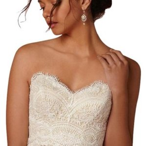 BHLDN Lace Ivory/Champagne Kinsey Corset (Corset Only) Top. Feminine Wedding Dress Size 8 (M)
