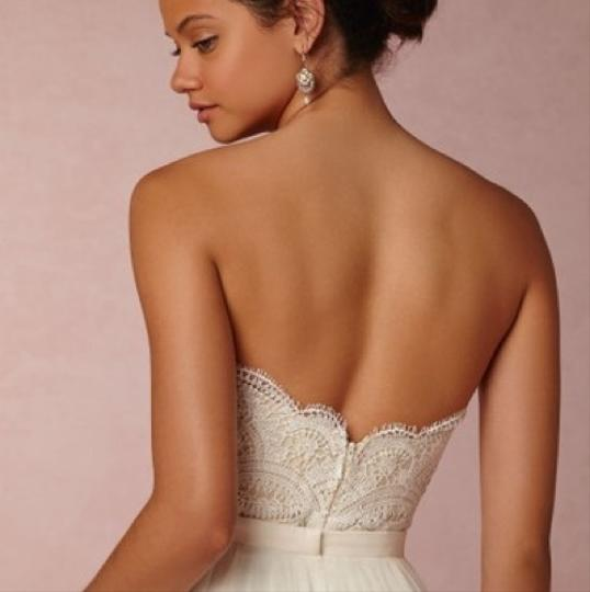 BHLDN Lace Ivory/Champagne Kinsey Corset (Corset Only) Top. Feminine Wedding Dress Size 8 (M) Image 1