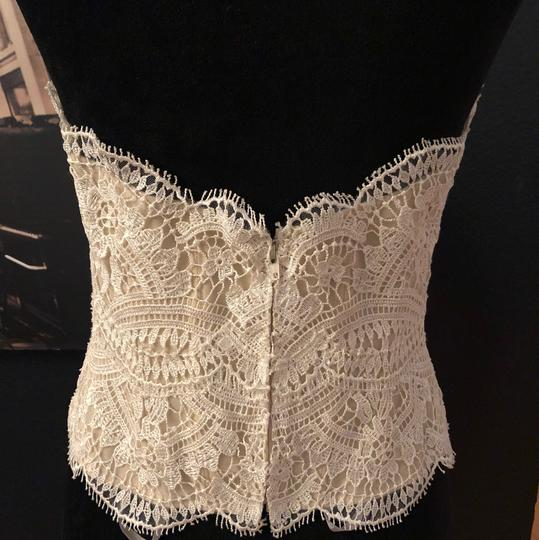 BHLDN Lace Ivory/Champagne Kinsey Corset (Corset Only) Top. Feminine Wedding Dress Size 8 (M) Image 3