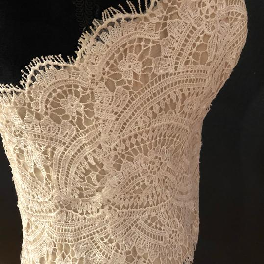 BHLDN Lace Ivory/Champagne Kinsey Corset (Corset Only) Top. Feminine Wedding Dress Size 8 (M) Image 4