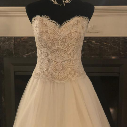 BHLDN Lace Ivory/Champagne Kinsey Corset (Corset Only) Top. Feminine Wedding Dress Size 8 (M) Image 8
