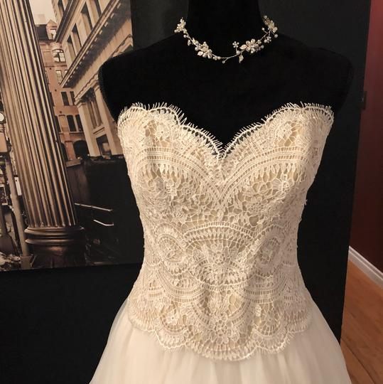 BHLDN Lace Ivory/Champagne Kinsey Corset (Corset Only) Top. Feminine Wedding Dress Size 8 (M) Image 9