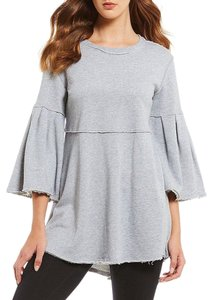 Calvin Klein Draped Distressed Bell Sleeve Tunic