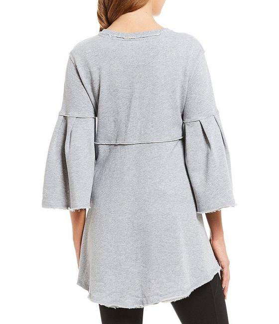 Calvin Klein Draped Distressed Bell Sleeve Tunic Image 1