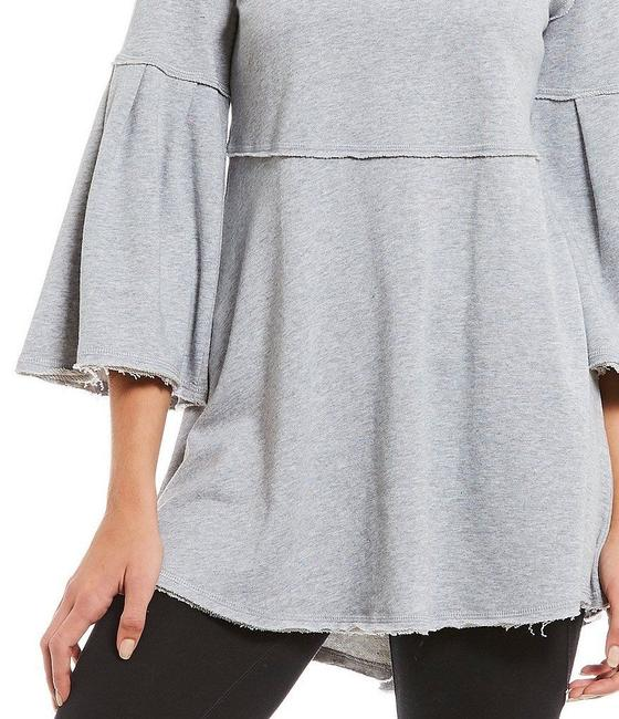 Calvin Klein Draped Distressed Bell Sleeve Tunic Image 2