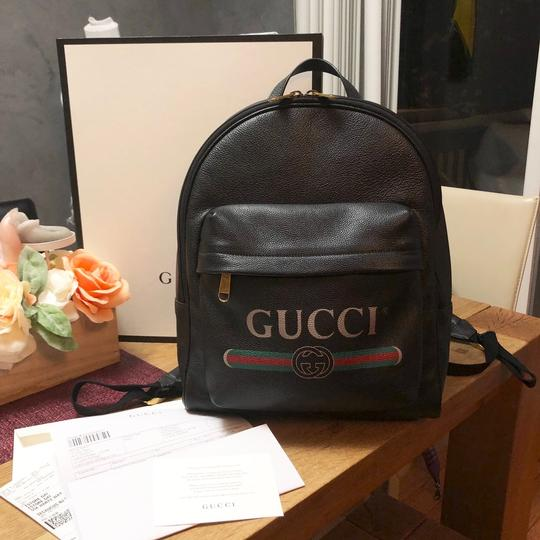 a21186352 Gucci Print Leather Backpack - Tradesy