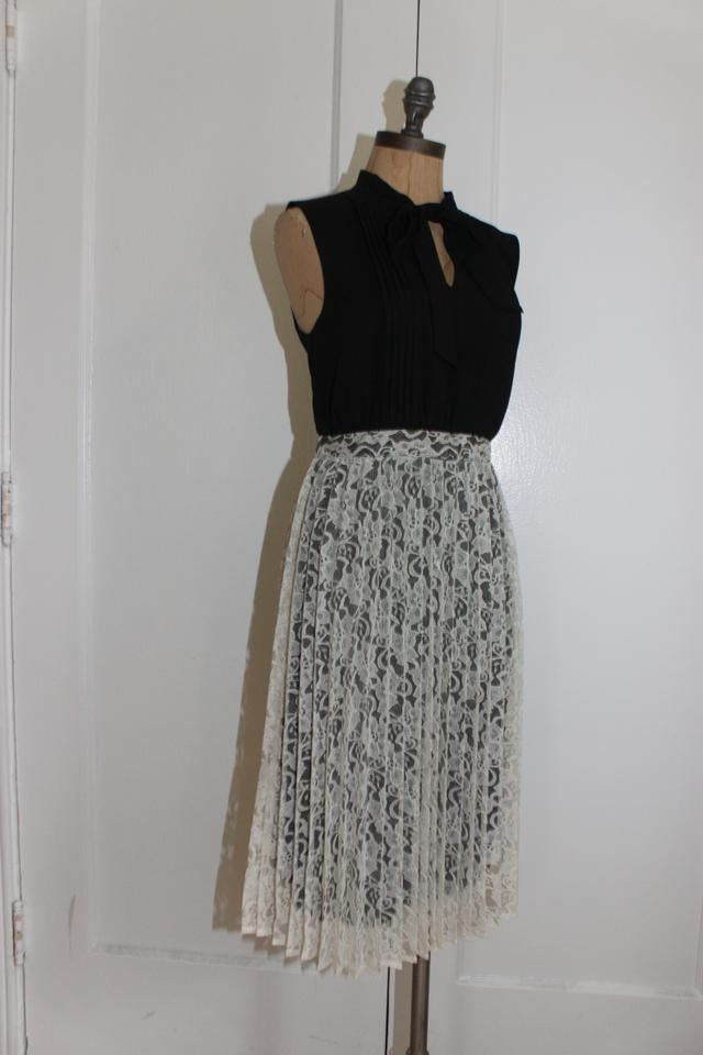 6d5ccd8fe690e Clothing, Shoes & Accessories New Modcloth Fervour Classy Pintucked Twofer  Dress Sz M Black with Tie ...