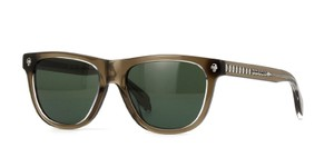 Alexander McQueen Alexander McQueen Sunglasses AM0023S 003 Brown/ Green lenses