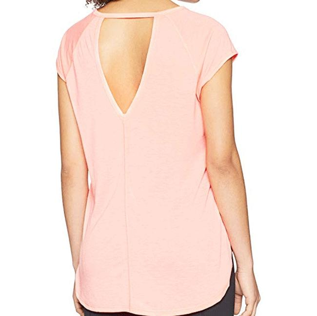 Calvin Klein Calvin Klein Performance Women's Cap Sleeve Tee W/ Back Cut Out Image 2