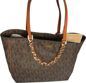 MICHAEL Michael Kors Tote in brown and gold