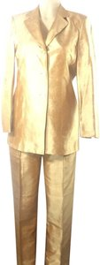 Kate Hill Gold silk 3pc evening pants suit