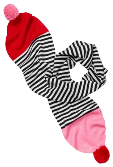 Preload https://img-static.tradesy.com/item/24728159/kate-spade-charm-red-multicolors-women-s-stripe-pom-knit-scarfwrap-0-1-540-540.jpg