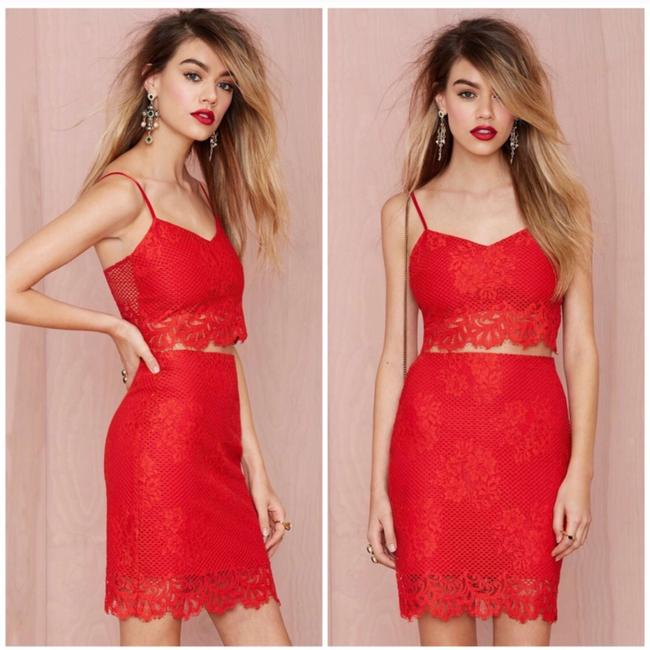 For Love & Lemons Mini Skirt Red Image 3