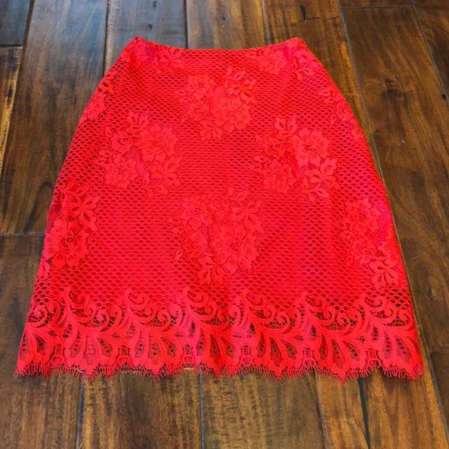 For Love & Lemons Mini Skirt Red Image 5