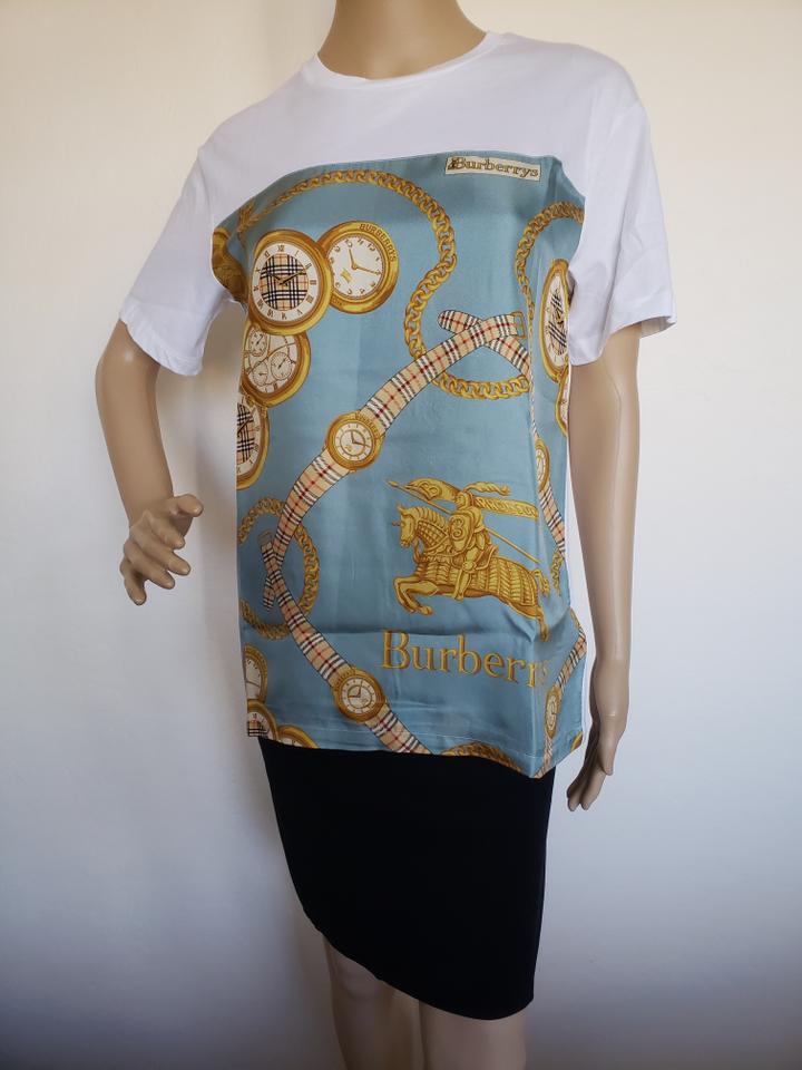6bb1417ebfd0 Burberry Multicolor Archive Scarf Print Oversized T-shirt Tee Shirt Size 2  (XS) - Tradesy