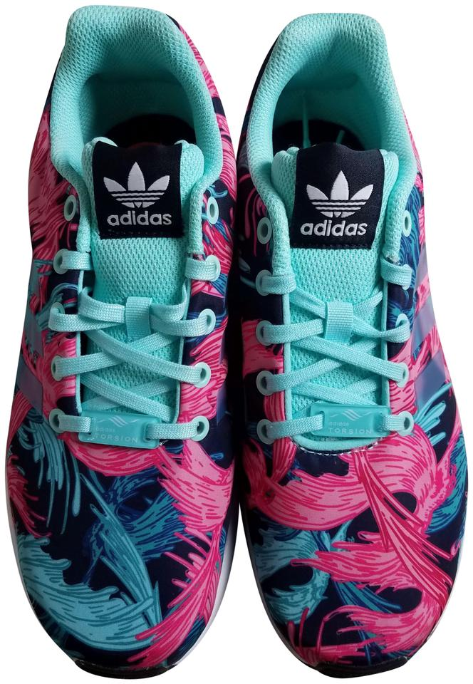 adidas Multicolor Zx Flux Torsion Birds Of Paradise Sneakers Size US ... 6f19ad0679