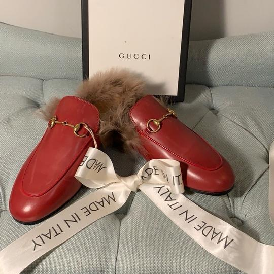 Gucci Hibiscus Red Mules Image 1