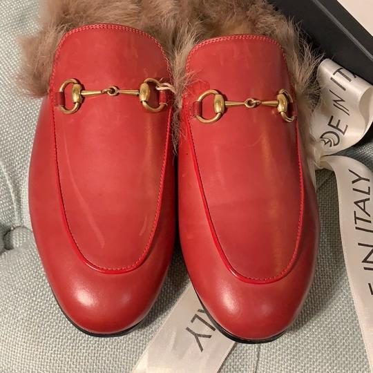 Gucci Hibiscus Red Mules Image 3