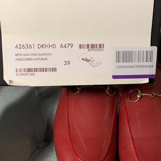 Gucci Hibiscus Red Mules Image 4