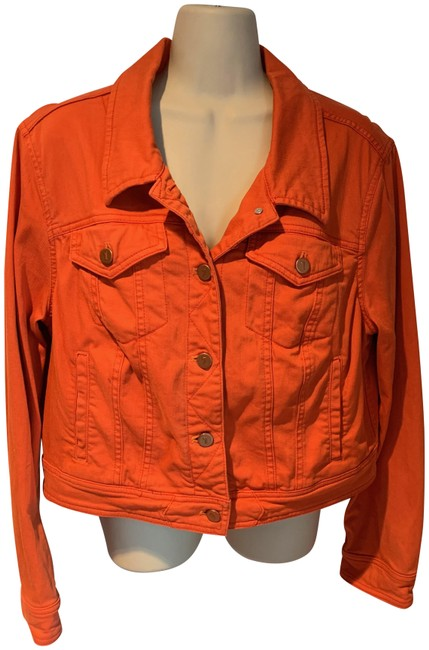Item - Orange Pilcro and The Letterpress Jacket Size 12 (L)