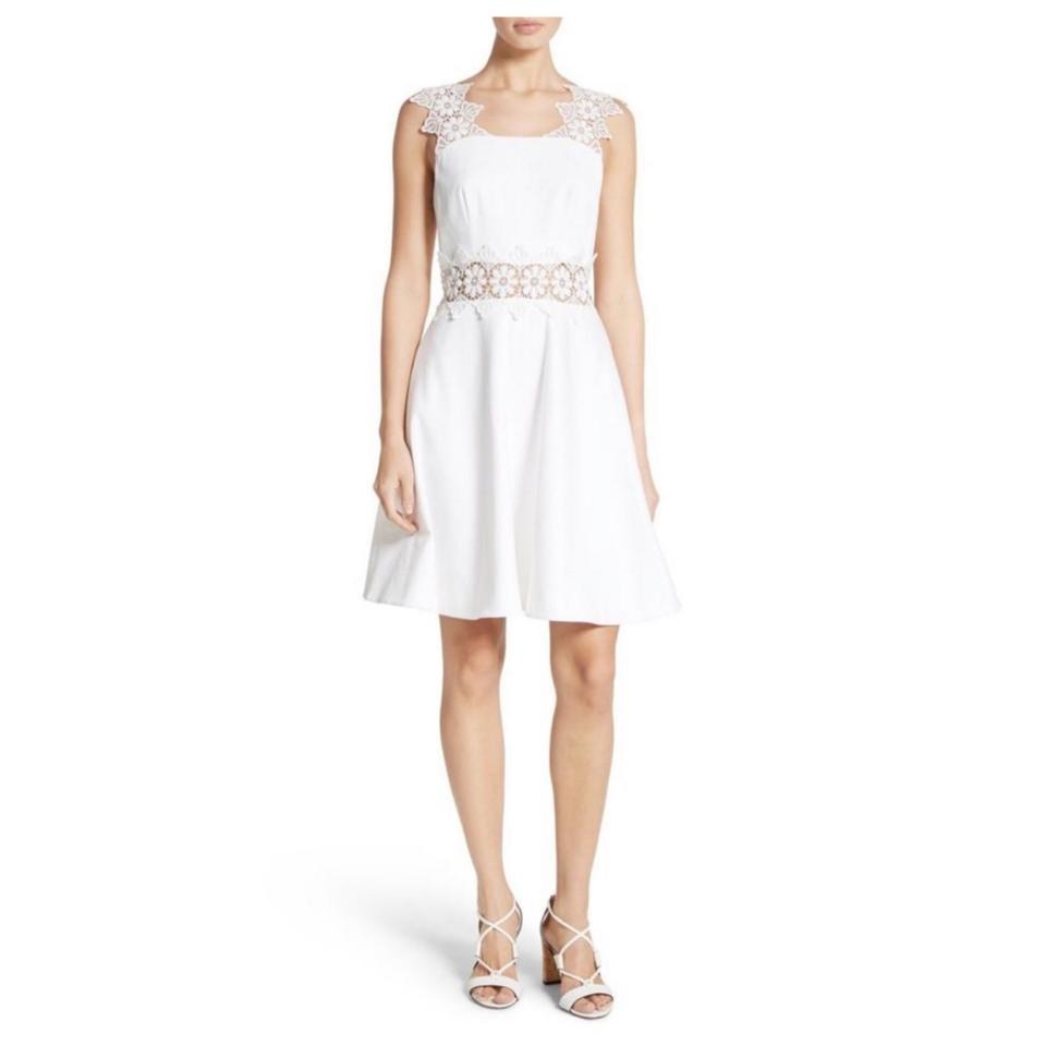 792f06e72 Ted Baker White Monaa Lace Mid-length Night Out Dress Size 0 (XS ...