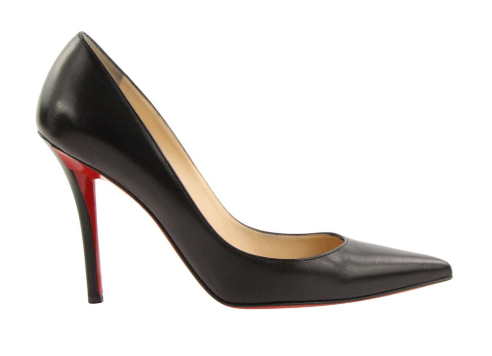 more photos a9c83 f7139 Christian Louboutin Black Apostrophy Pointed 100 Nappa Leather Pumps Size  EU 38.5 (Approx. US 8.5) Regular (M, B) 50% off retail