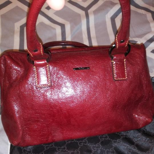 Gucci Satchel in Burgundy Image 3