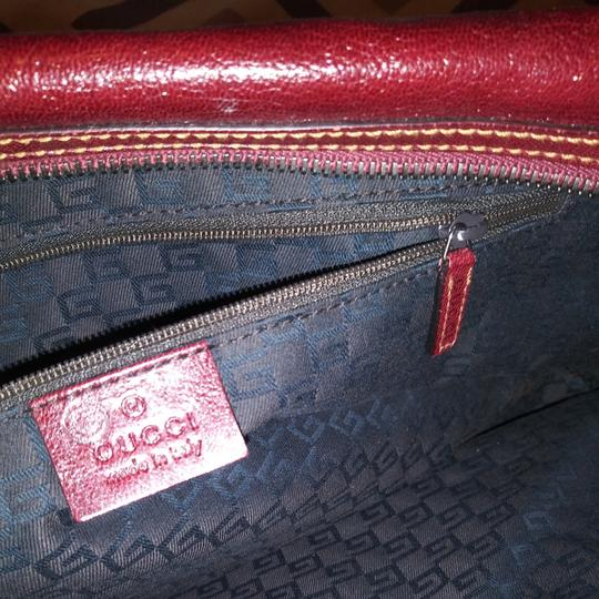 Gucci Satchel in Burgundy Image 5