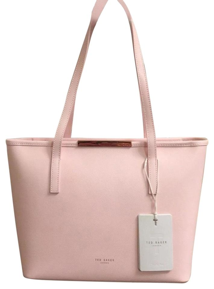 fd7adaf200 Ted Baker Mini Grain Metal Bar Shopper Handbag Pink Leather Tote ...