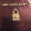 MICHAEL Michael Kors Adele Merlot Coin Pouch With ID Embossed Leather Mini Wallet Image 2