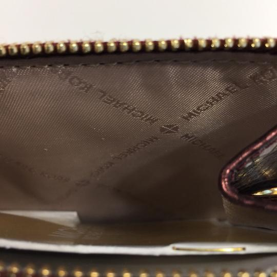 MICHAEL Michael Kors Adele Merlot Coin Pouch With ID Embossed Leather Mini Wallet Image 6