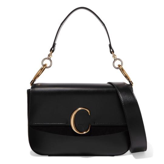 Preload https://img-static.tradesy.com/item/24728427/chloe-c-medium-suede-trimmed-leather-shoulder-bag-0-0-540-540.jpg