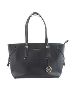 Michael Kors Leather Gold-tone Unknown Tote in Black