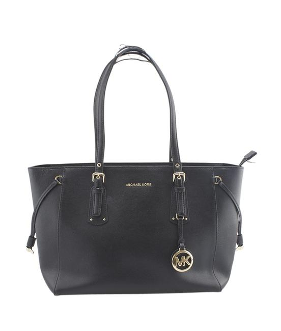 Michael Kors Voyager Medium (164070) Black Leather Tote Michael Kors Voyager Medium (164070) Black Leather Tote Image 1