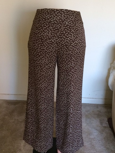 Ann Taylor LOFT Relaxed Pants Brown & Beige Image 1