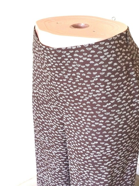 Ann Taylor LOFT Relaxed Pants Brown & Beige Image 2